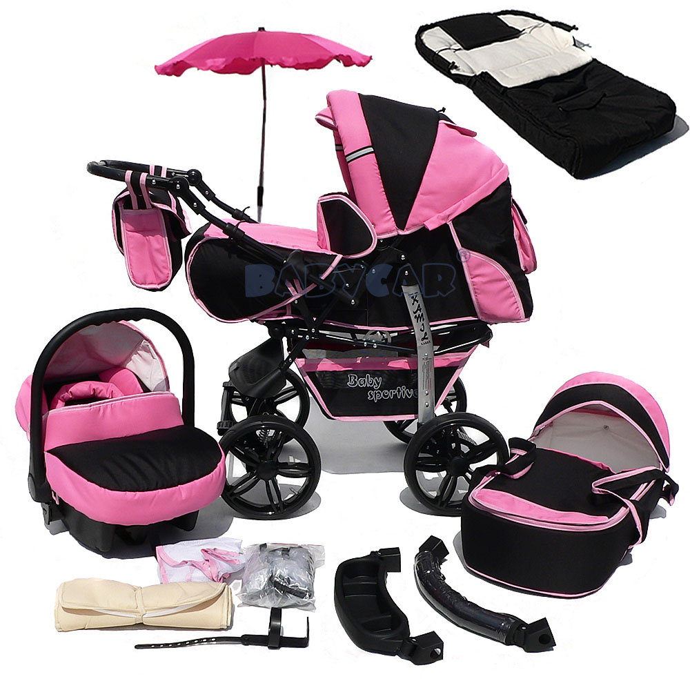Baby Pram And Car Seat Combo Details About New Baby Pram Child Stroller Pushchair Car Seat Umbrella Footmuff Buggy