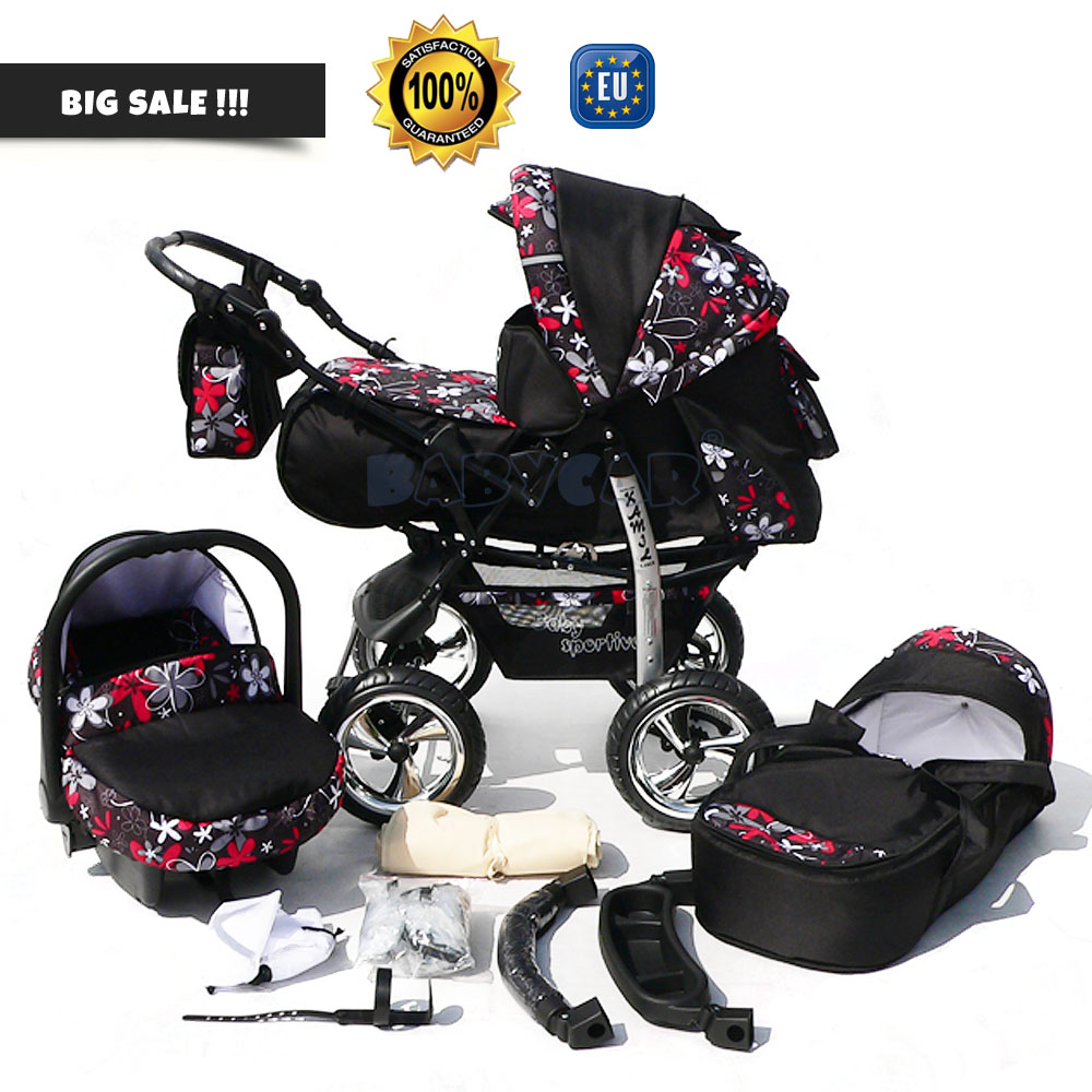 Baby Pram Stroller Pushchair + Car Seat Carrycot Buggy Travel System Details About Baby Pram Stroller Pushchair Car Seat Carrycot Buggy Travel System
