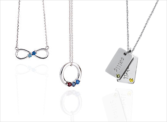 Mothers birthstone necklace gold traumspuren mothers aloadofball Images