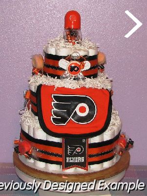 All Sports Diaper Cakes/NHL Flyers Diaper Cake