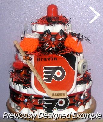 All Sports Diaper Cakes/philadelphia flyers diaper cake