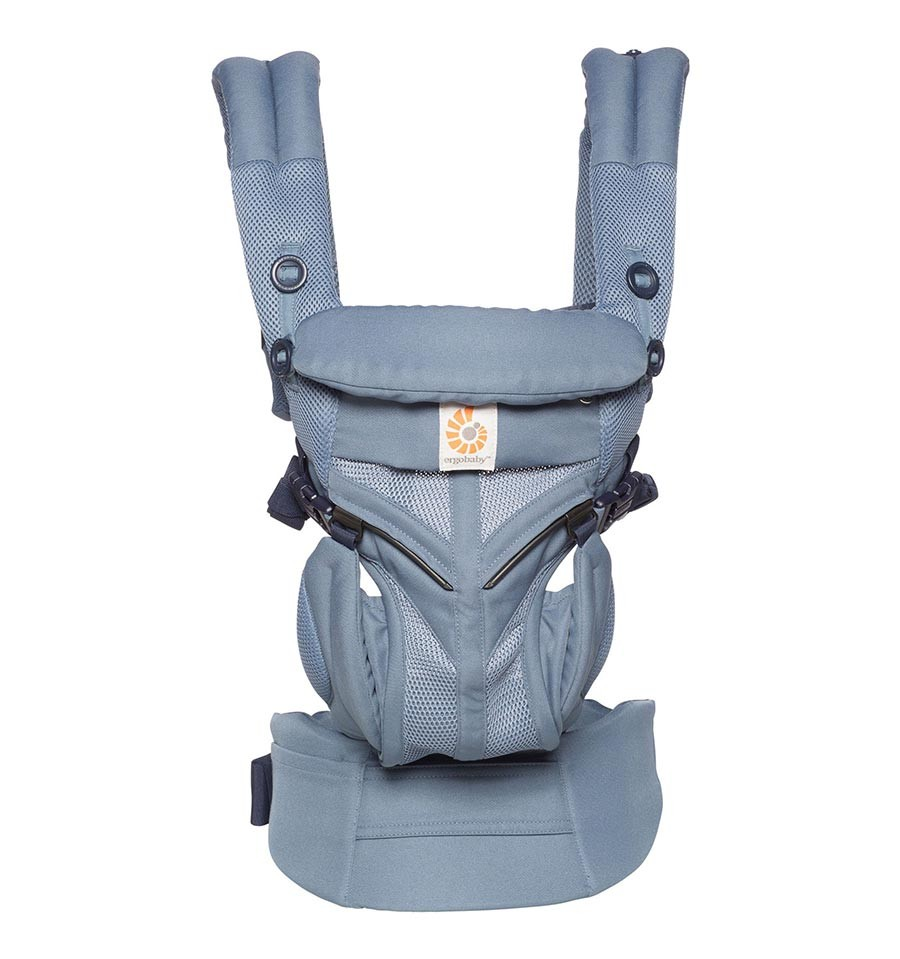 Infant Baby In Carrier Ergobaby Omni 360 Cool Air Mesh Carrier Oxford Blue Online