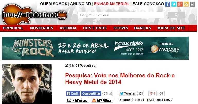 BABYMETAL海外の反応 ブラジルメタルサイトで1位!神バンドメンバーもランクイン!