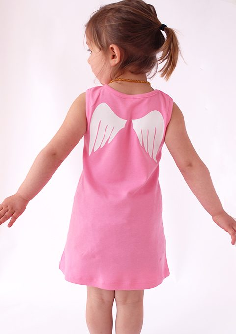 Baby Pram Gift Cute Baby Dresses Angel Wings Baby Girls Clothes Baby