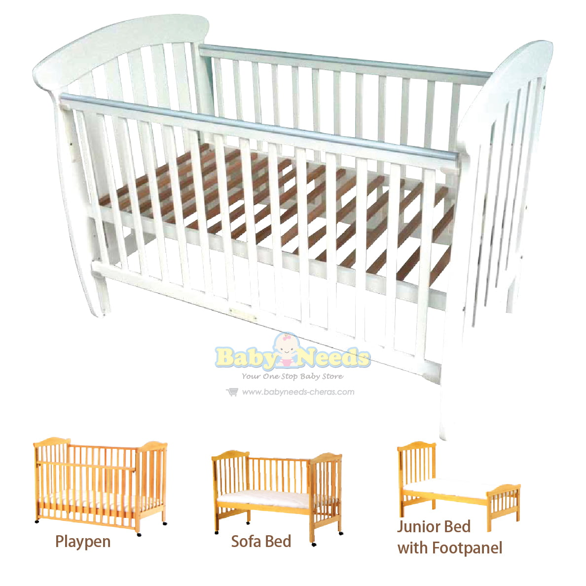 Babylove baby cot 4 in 1 convertible 28 x 52 package baby needs online store malaysia