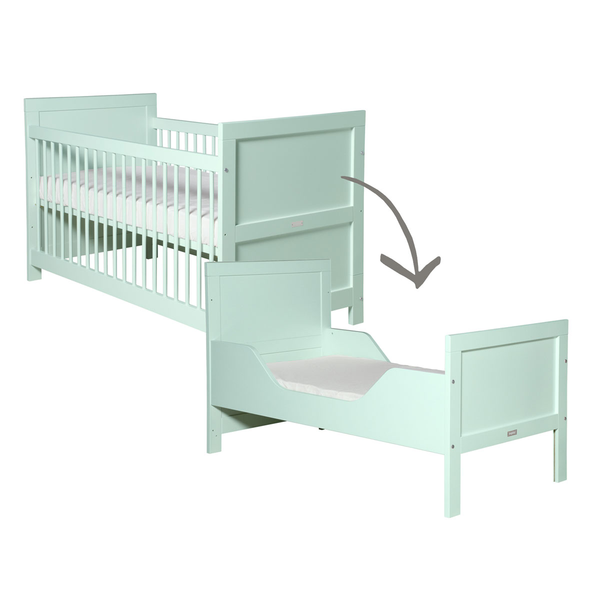 Babybett 70x140 Bopita Mix And Match Kinderbett Mint 70x140 Portofrei