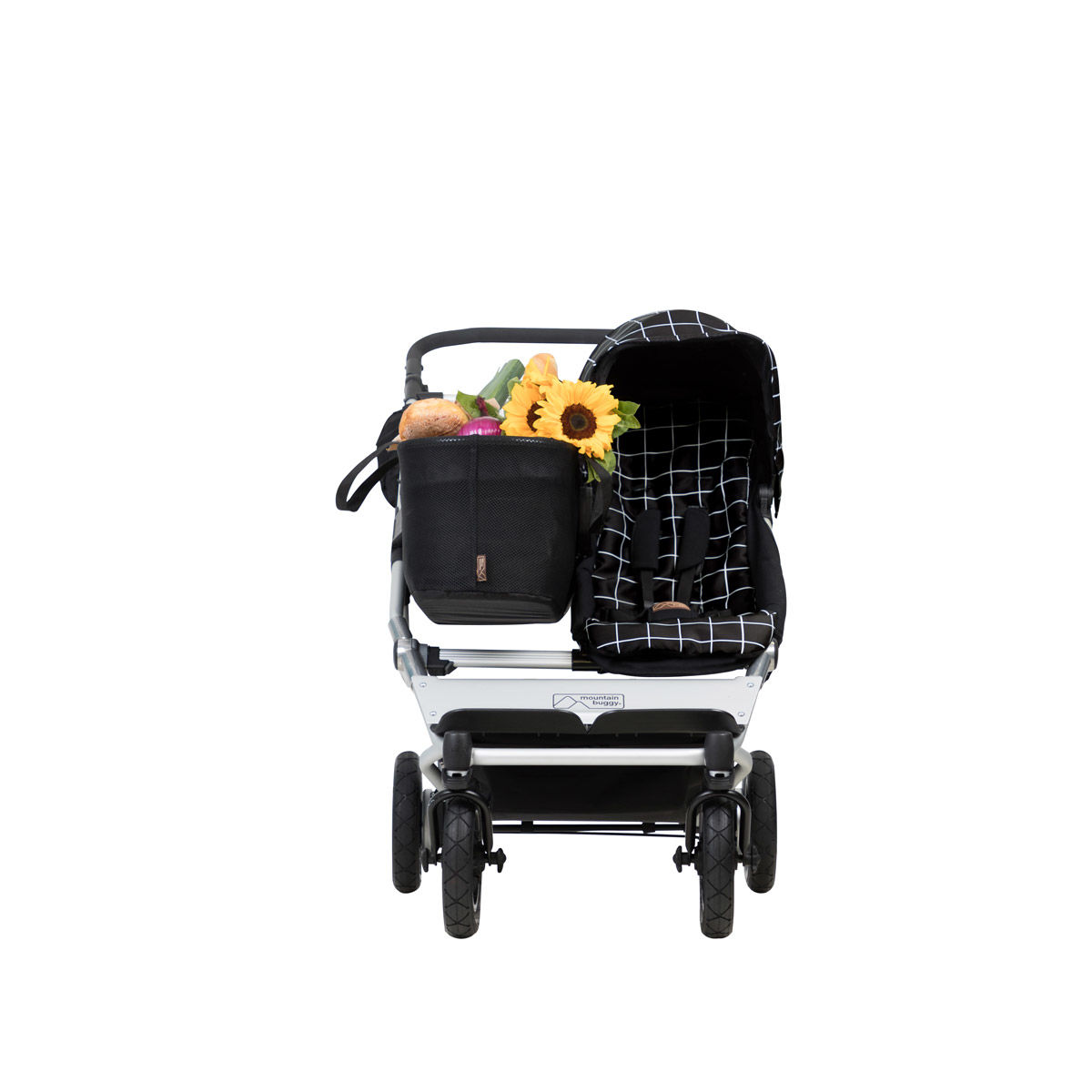 Doppel Kinderwagen Urban Jungle Mountain Buggy Duet V3 Single In Grid