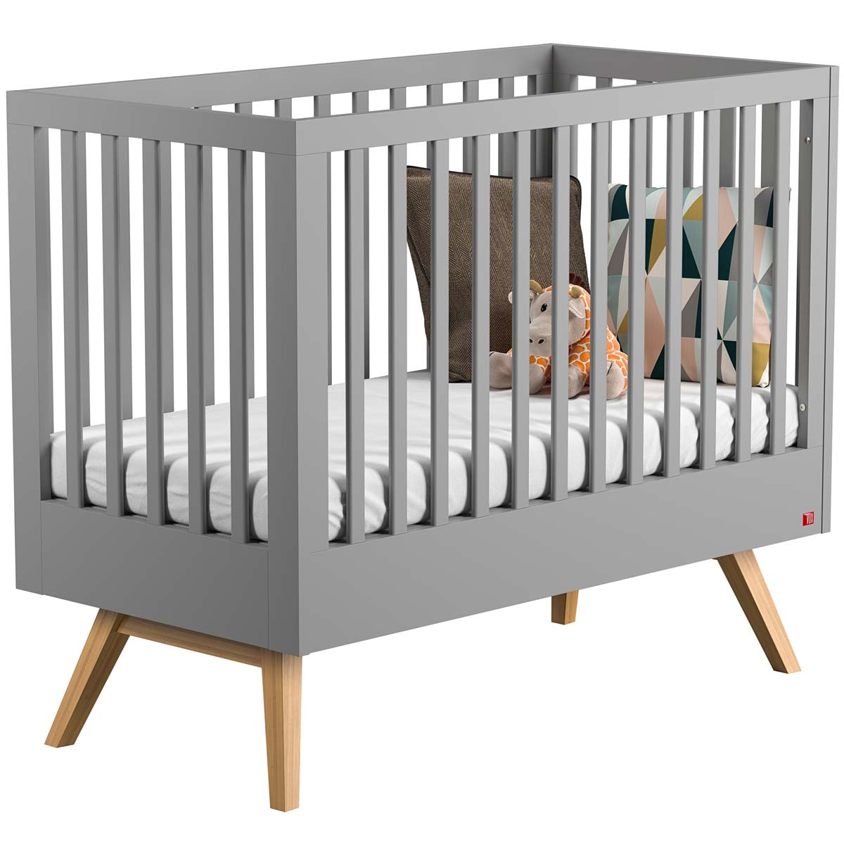 Babybett 70x140 Vox Nautis Babybett 70x140 Light Grey Oak Zum Toppreis