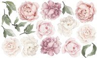 Ginger Monkey Pink Peony & Rose Wall Decals   Babyroad