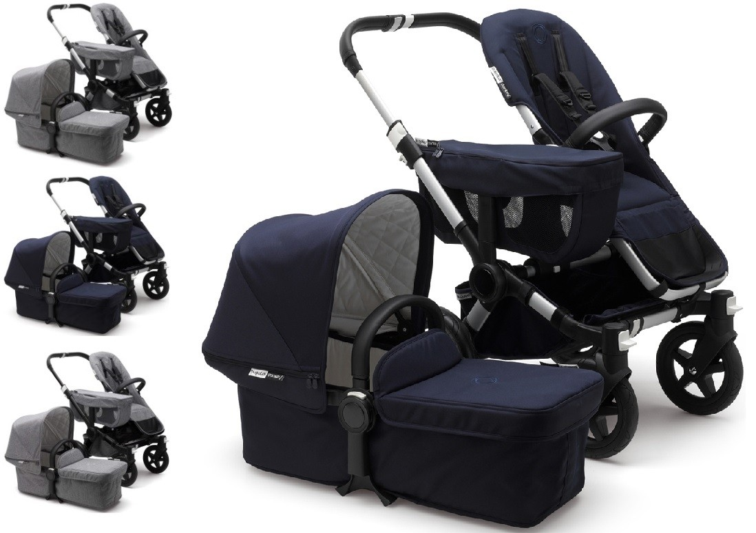 Bugaboo Donkey Duo Classic Bugaboo Donkey 2 Classic Mono Complete Stroller
