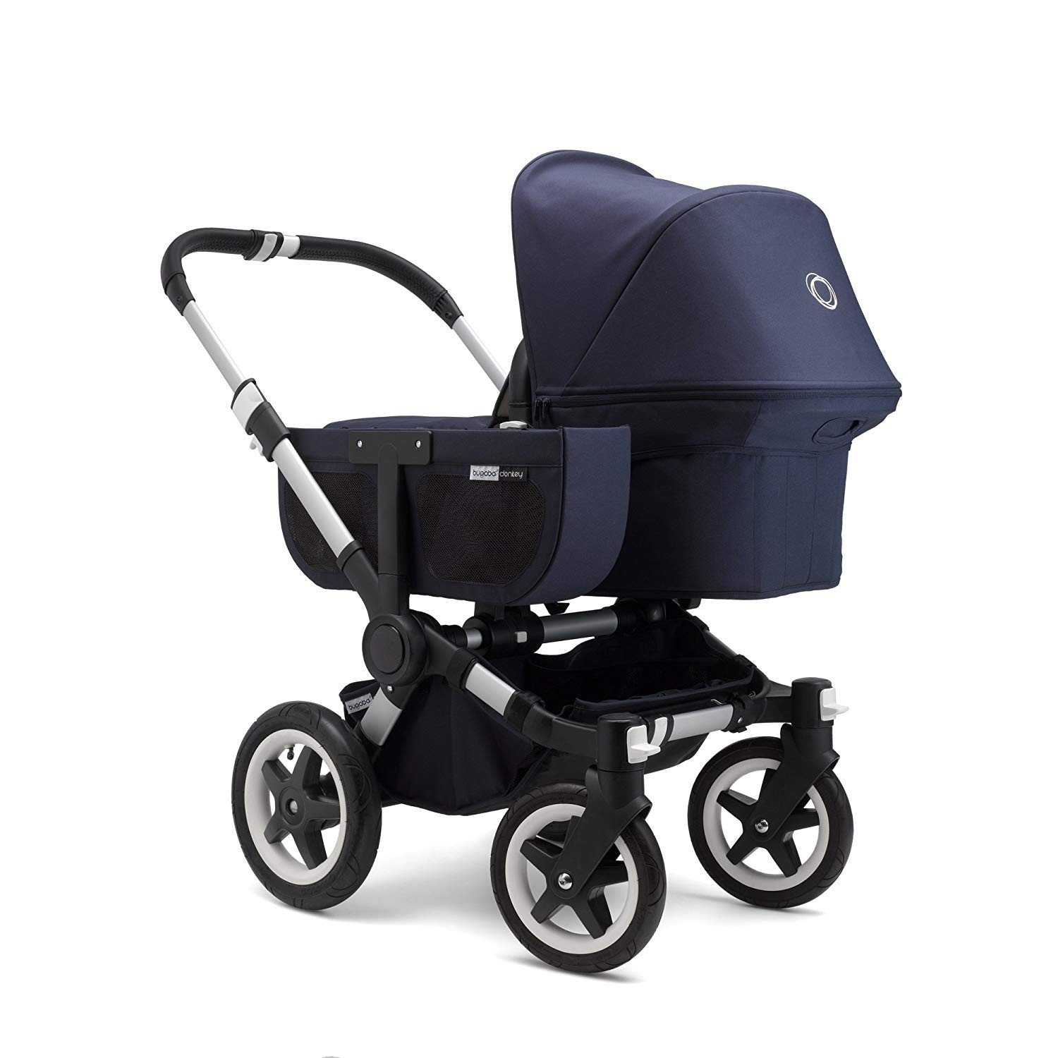 Bugaboo Donkey Duo Classic Bugaboo Donkey 2 Classic Mono Complete Stroller Aluminum Dark Navy