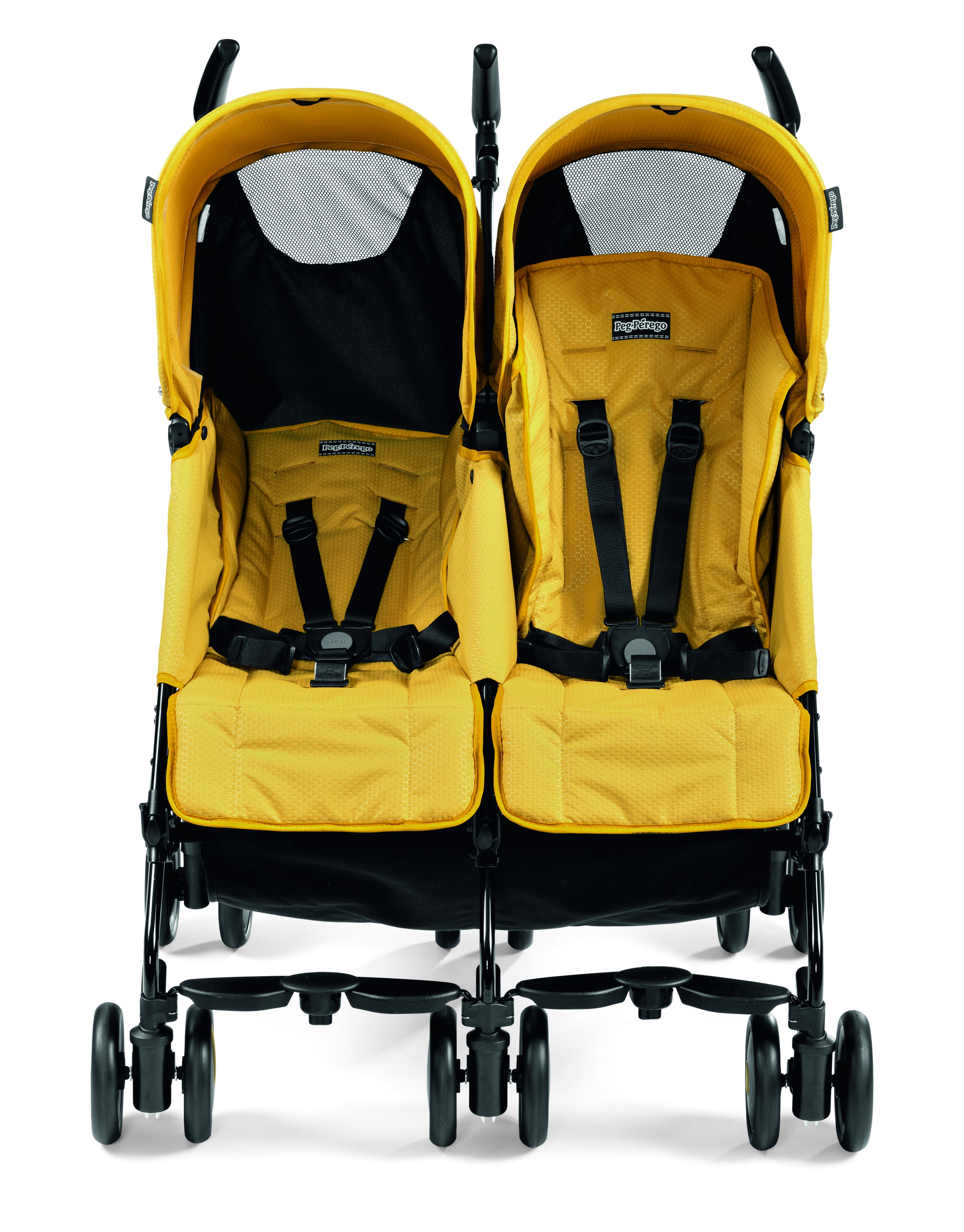 Peg Perego Stroller For Twins Peg Perego Pliko Mini Twin Leightweight Double Stroller Mod Yellow