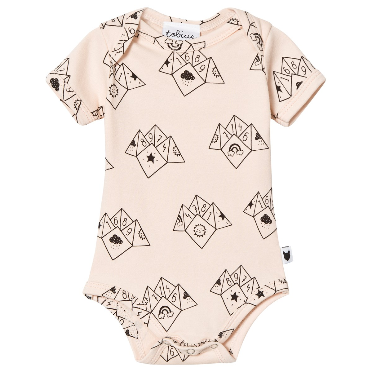 Baby Teller Tobias The Bear Peach Fortune Teller Print Baby Body Babyshop