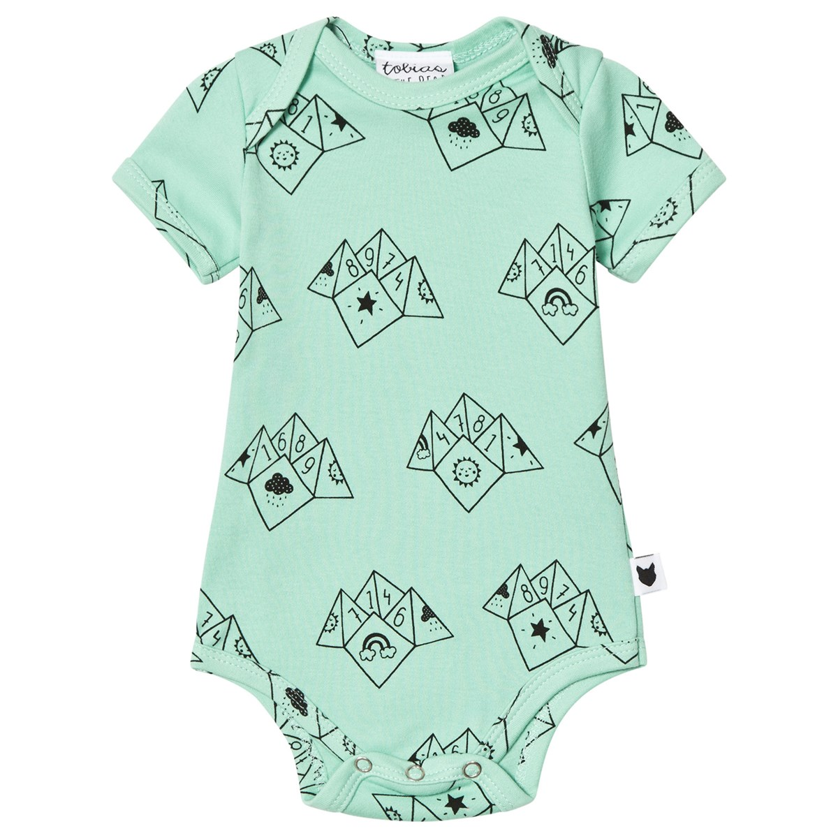 Baby Teller Tobias The Bear Apple Fortune Teller Print Baby Body