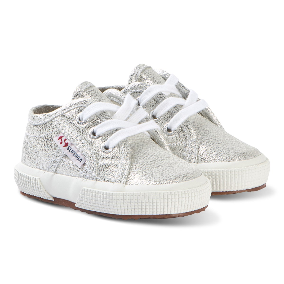 Infant Sneakers Superga Lameb Infant Sneakers Silver Metallic Babyshop