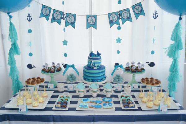 Dekoideen Party Nautical Whale Baby Shower - Baby Shower Ideas - Themes
