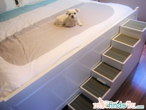 Carpet Tiles Ikea Diy Pet Stairs - Dog Steps Complete With Paint And Carpet