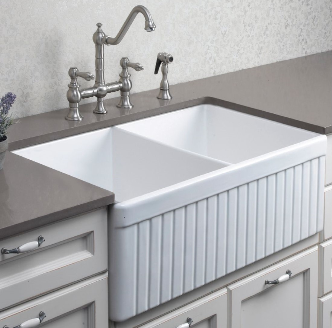 Ceramic Kitchen Sink Debbie Fireclay Ceramic Kitchen Sink Bacera