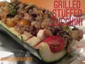 grill, stuffed, zucchini, tomatoes