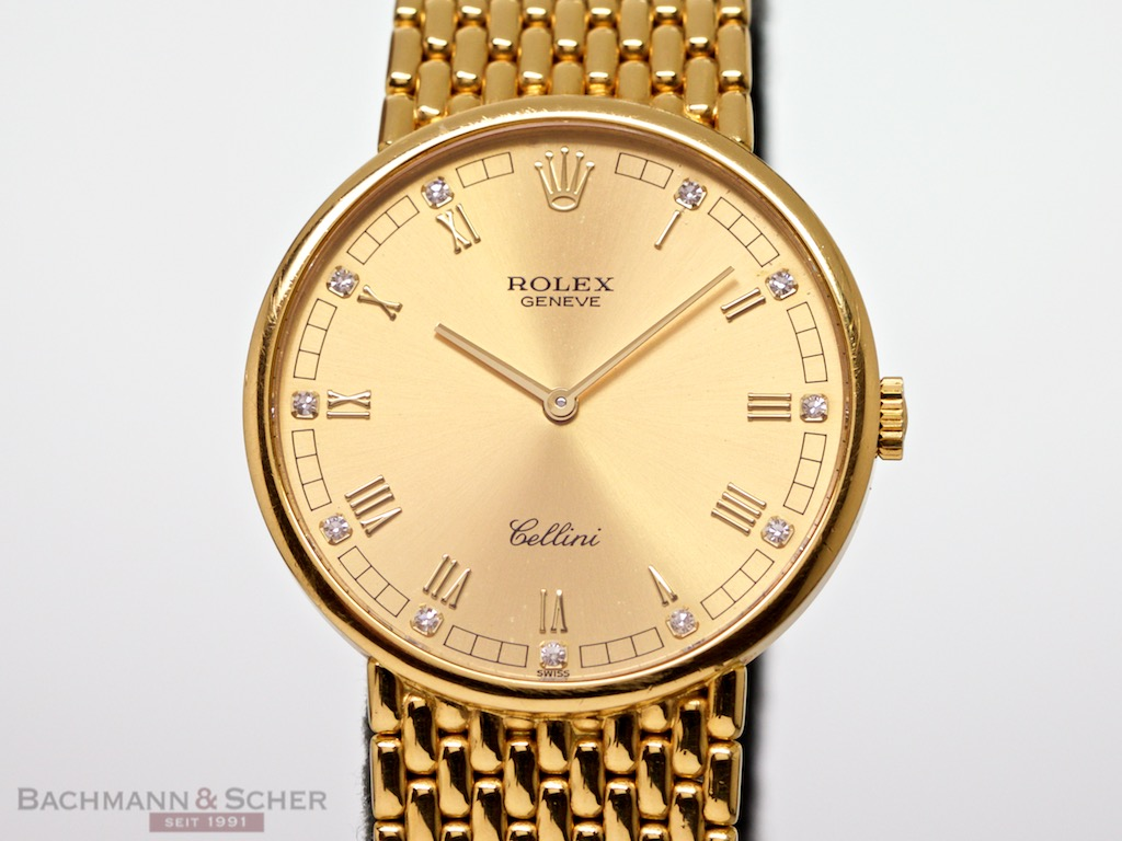 Chronograph Watches Rolex Cellini Gentleman Watch Manual Ref-5042-8 18k Yellow