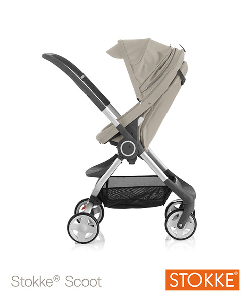 Compact Stroller Backpack Stokke Scoot Pushchair Back In Action
