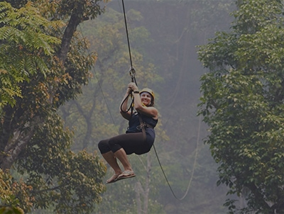 Jungle Ziplining in Thailand & Cambodia