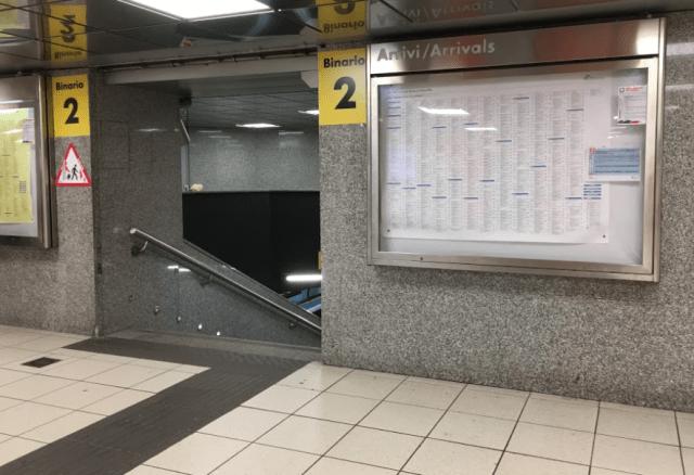 ナポリ中央駅のBinario2