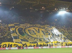 Video: Dortmund fans throw tennis ball on pitch to protest against ticket prices
