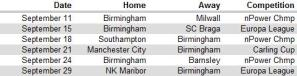 BCFC Sept Sched chart
