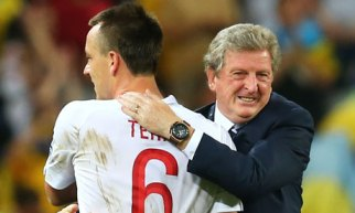 John Terry with Roy Hodgson