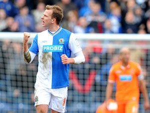 Rhodes celebrates one of his many Blackburn goals