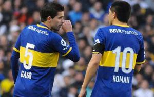 Gago and his renowned teammate Juan Roman Riquelme