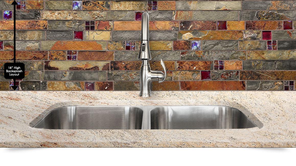 brown rusty gray color mix unique slate kitchen backsplash tile grouting slate tile backsplash slate tile kitchen backsplash