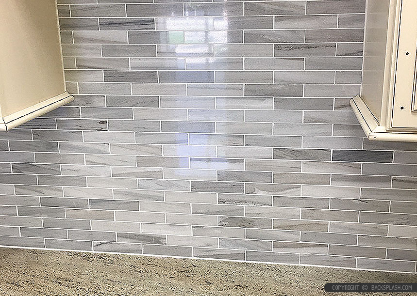 brown tones modern subway kitchen backsplash tile backsplash white countertop modern kitchen backsplash tile