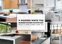 9 WHITE MODERN BACKSPLASH Ideas | Glass Marble Mosaic Tile