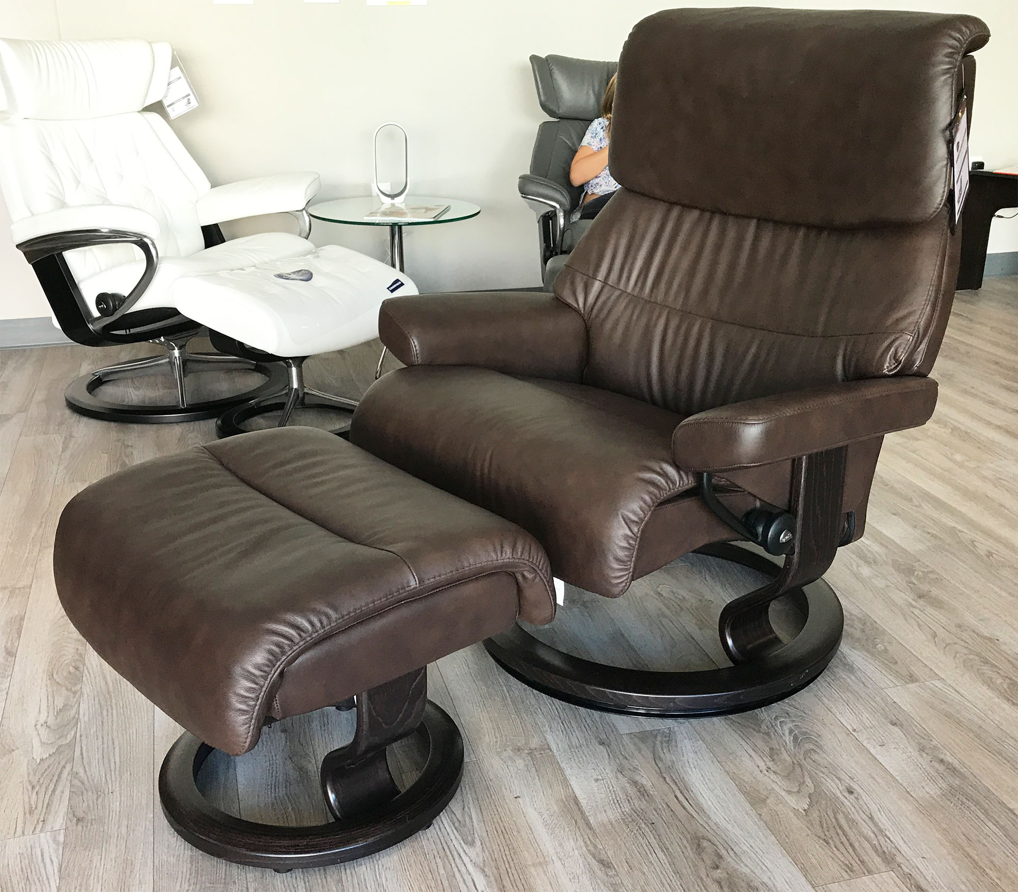 Stressless-world.com Stressless Capri Paloma Chocolate Leather Recliner Chair And Ottoman By Ekornes