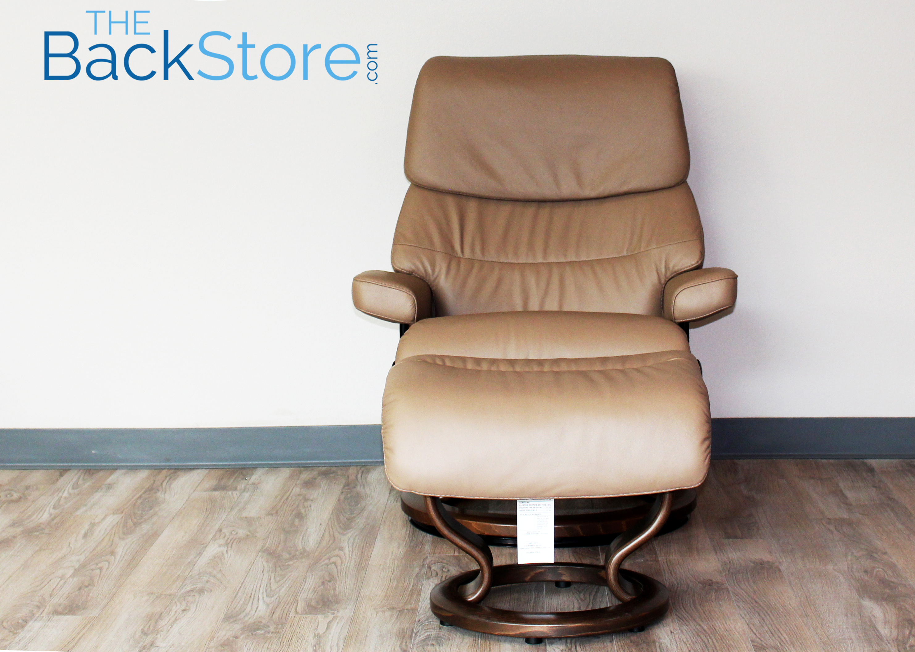 Stressless-world.com Stressless Capri Paloma Funghi Leather Recliner Chair And Ottoman By Ekornes