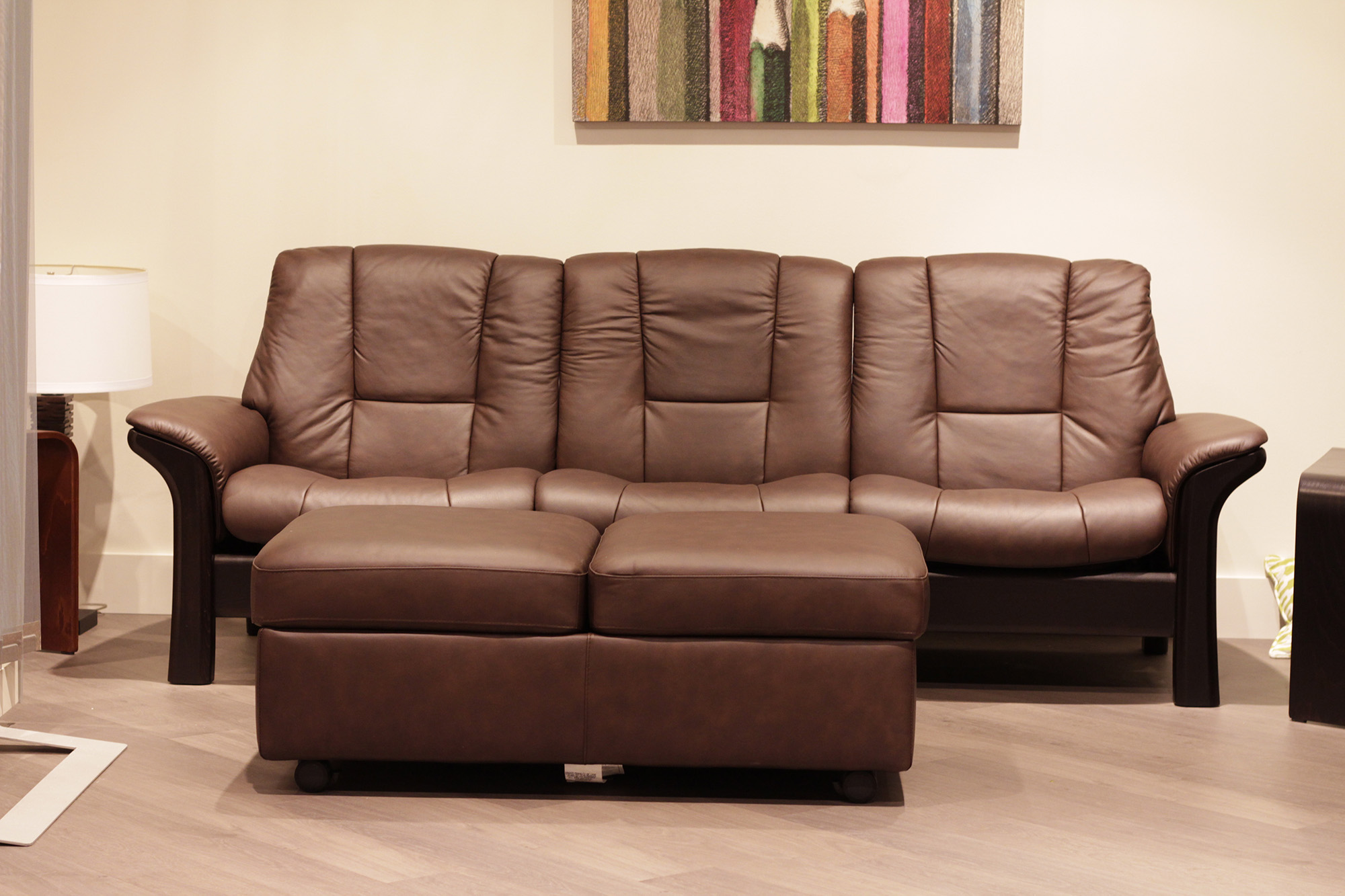 Stressless Sofa 600 Stressless Buckingham 3 Seat Low Back Sofa Paloma Chocolate Leather By Ekornes