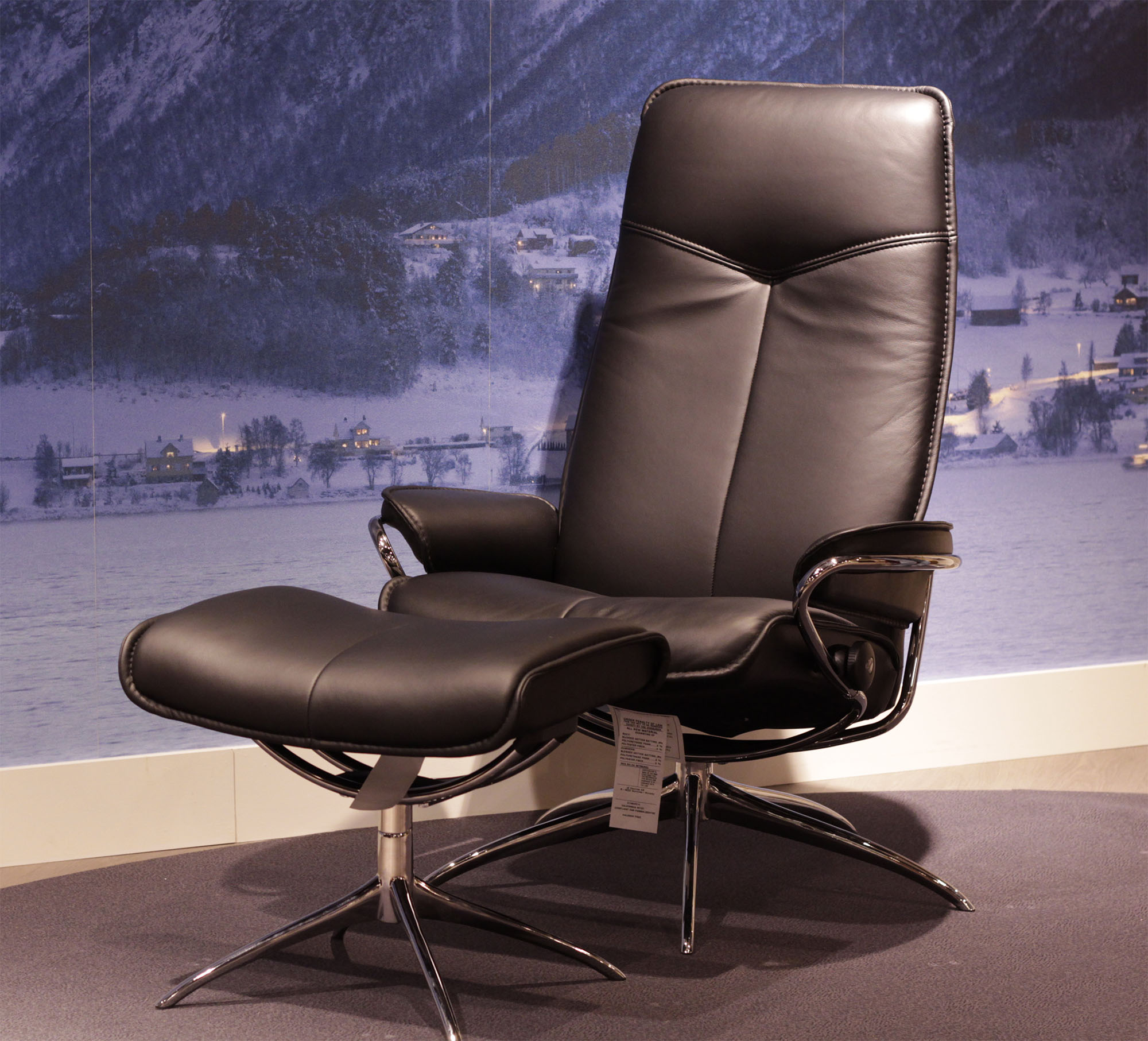 Ekornes Stressless Stressless City High Back Paloma Clementine Leather Recliner Chair By Ekornes