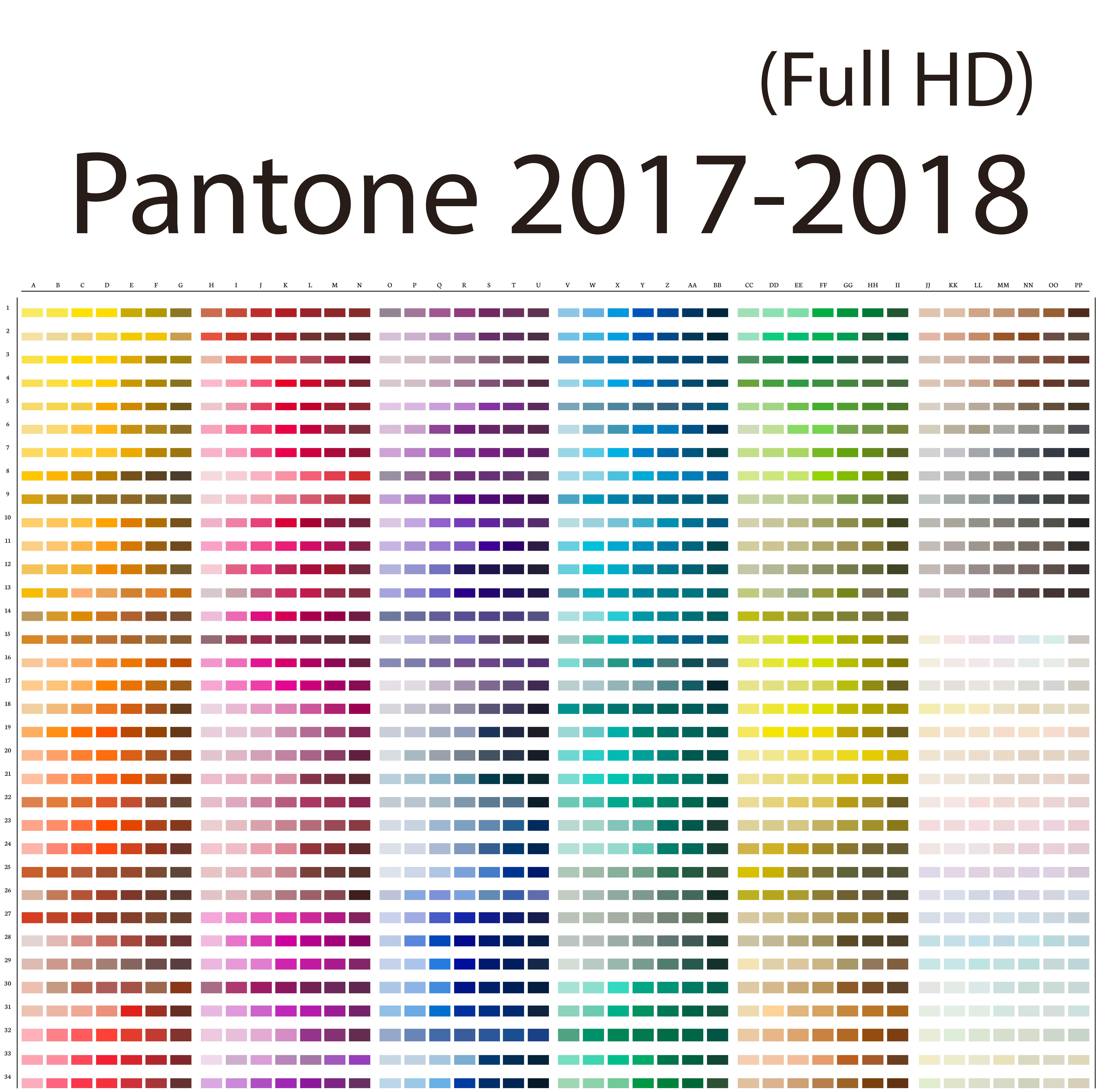 Pantone 2017 Color Of The Year 2017 2018 Pantone Updated Back To