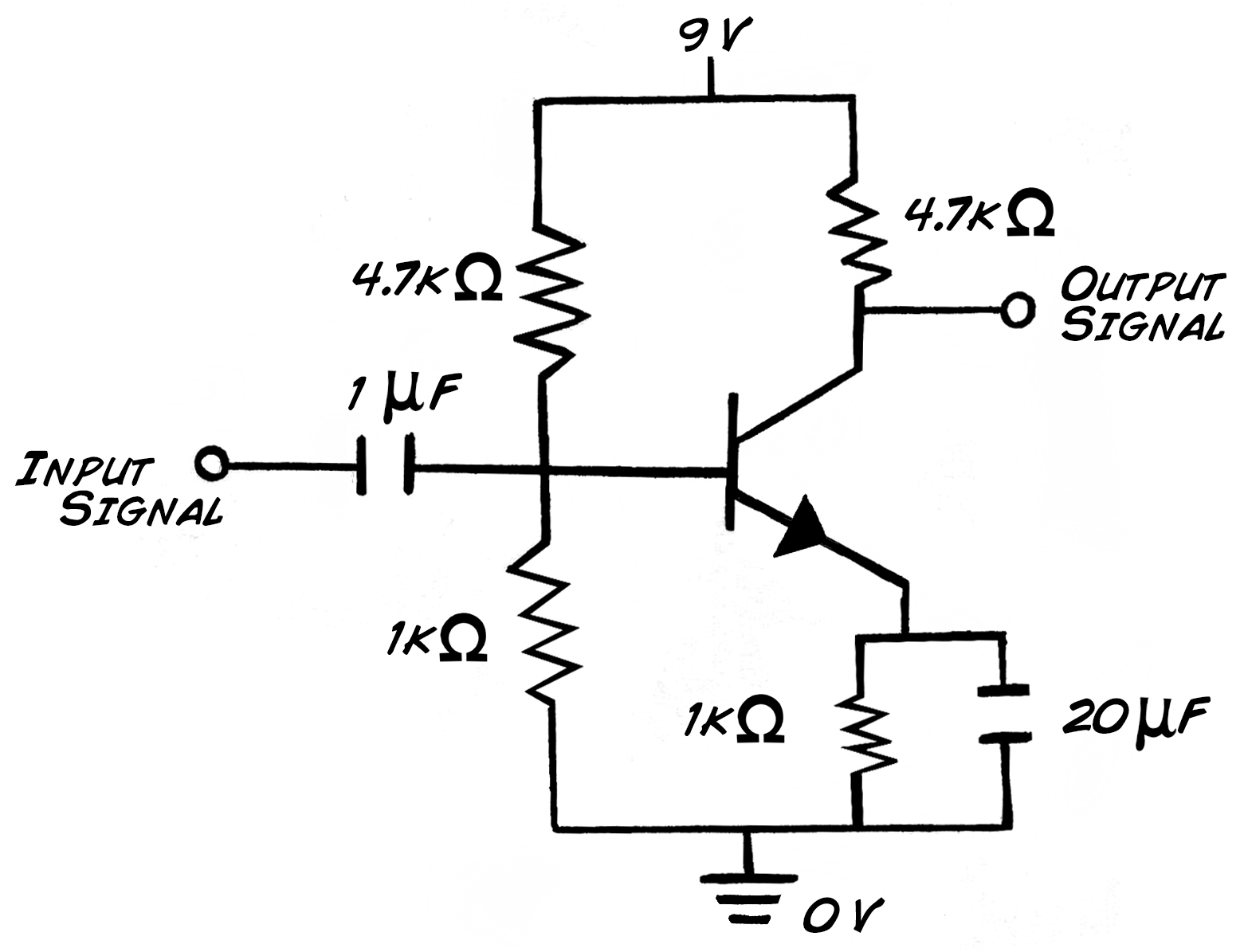 transistor amplifiers experiment