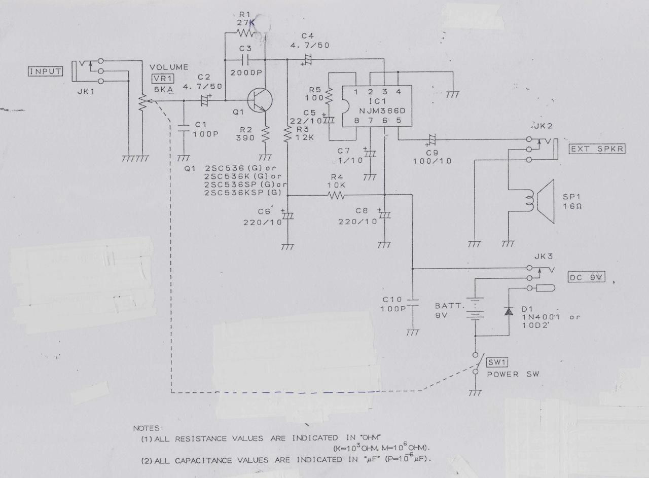 speaker schematics