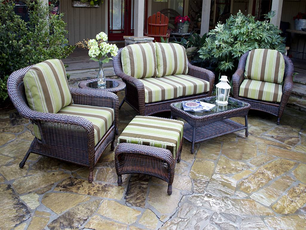 Patio Furniture Tortuga 5 Pc Lexington Resin Wicker Patio Set Fn21500