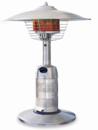 Stainless Steel Tabletop Patio Heater. Round Stainless ...