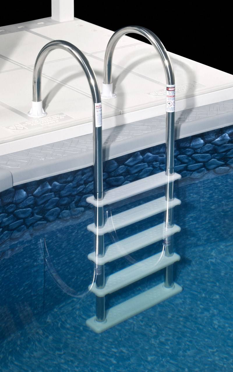 Jacuzzi Pool Ladder Stainless Steel In-pool Ladder - Ne122ss - Wide White