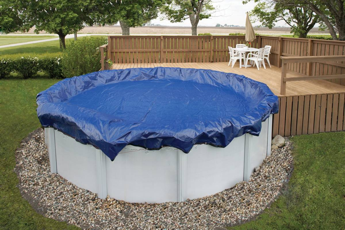 Above Ground Pool Winter Cover Winter Cover Pool Size 28ft Round 15 Yr Royal Blue Wc910 4