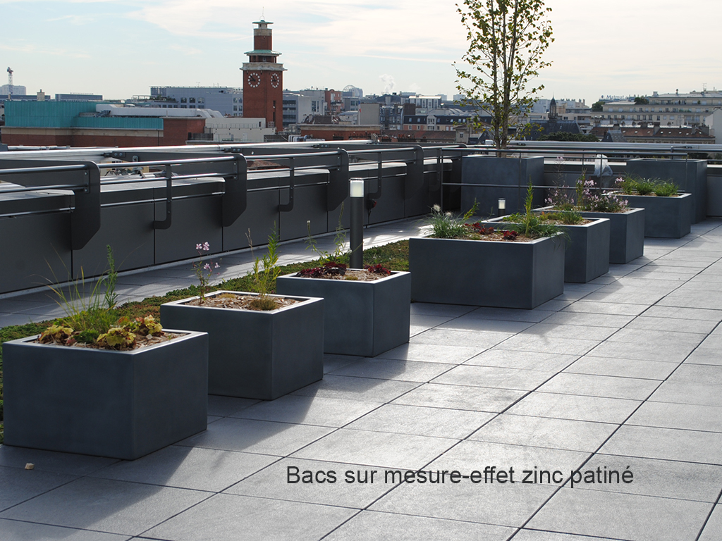 Grand Pot Terrasse Galerie Photos Bacs Et Jardins