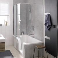 HSK-Badewannenaufsatz, Gleittr, 2-teilig, K2 - Bad-Elegant