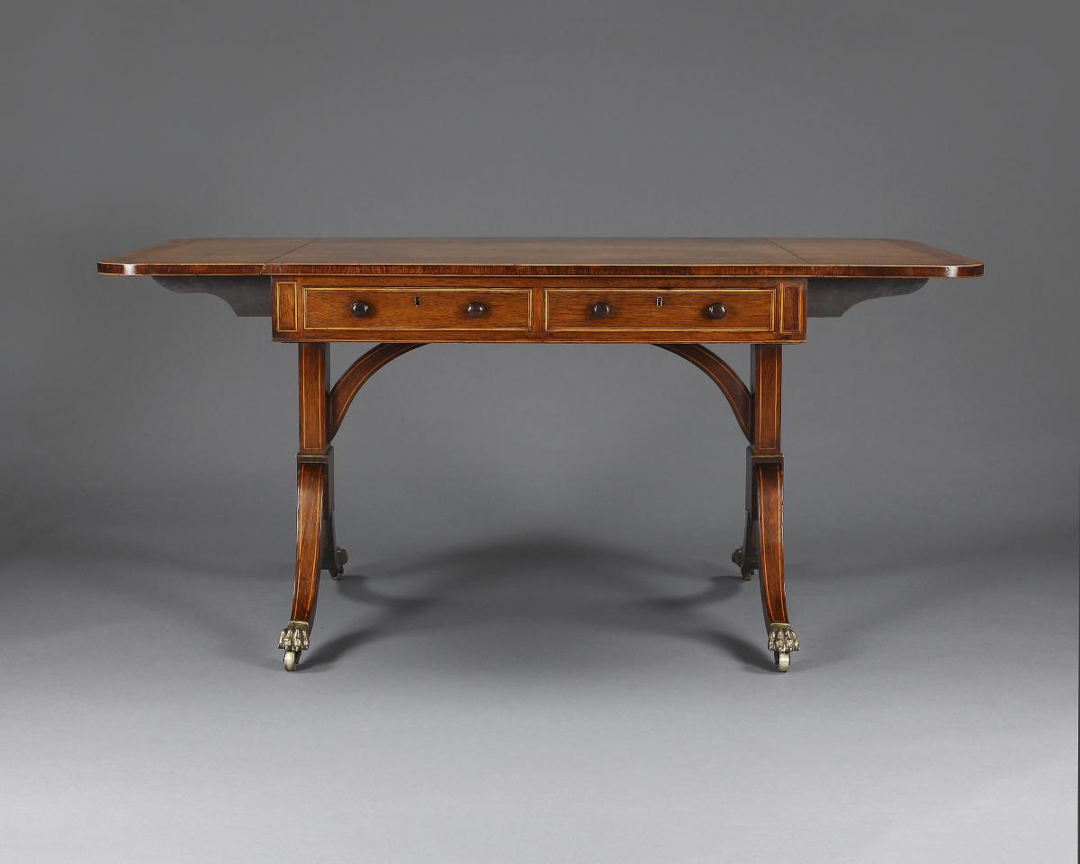 Sofa Table Set Up Regency Rosewood Sofa Table Bada