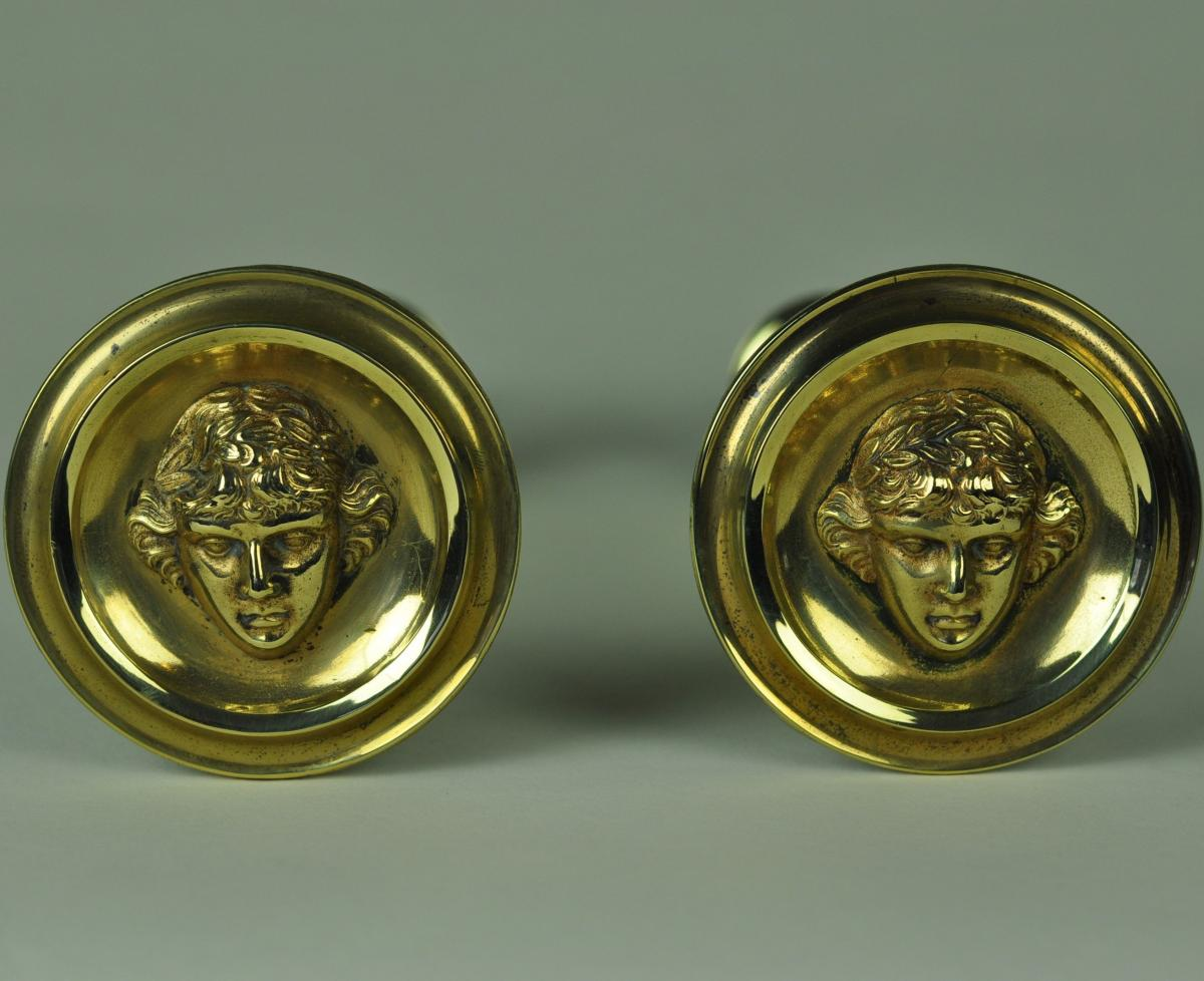 Antique Bronze Curtain Tie Backs Pair Of Brass Curtain Tiebacks Christopher Buck Antiques